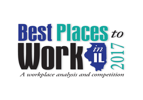 Logo for Best Places to Work in Illinois for 2017 - Adage Awarded Best Place to Work in 2017