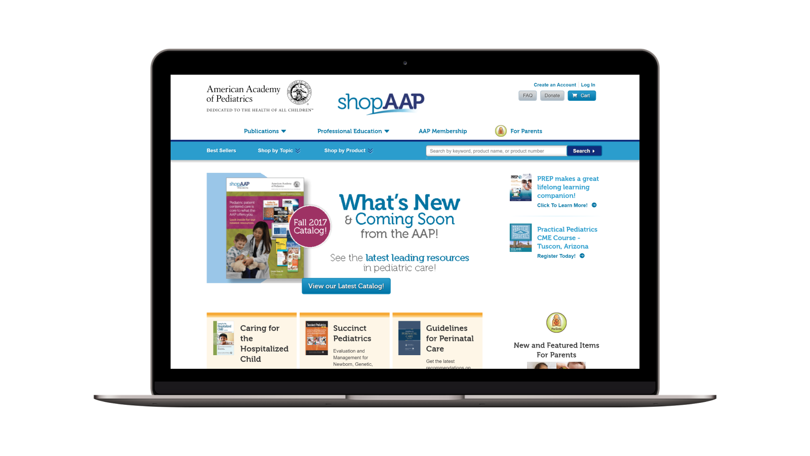 American Academy of Pediatrics Website by Adage