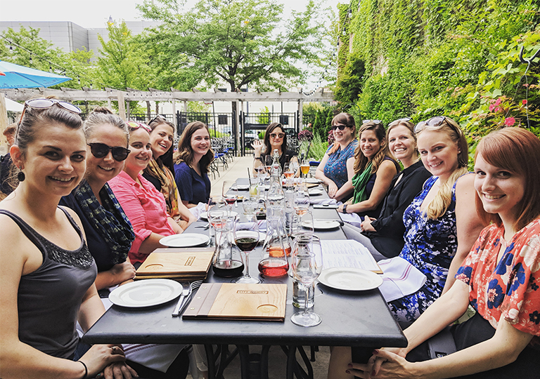 Women in Technology - Group - Dinner - Outside